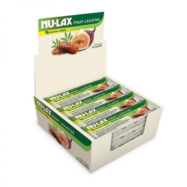 Natural Fruit Laxative bar in box of 20