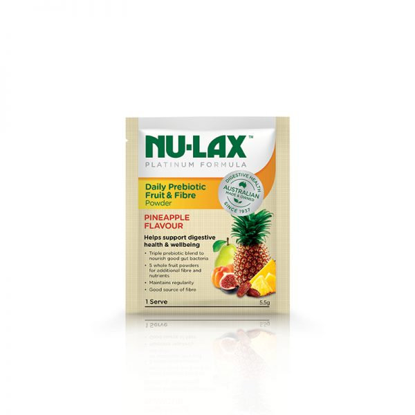 Nu-Lax Platinum Daily Prebiotic Fruit & Fibre Powder – Pineapple Flavour