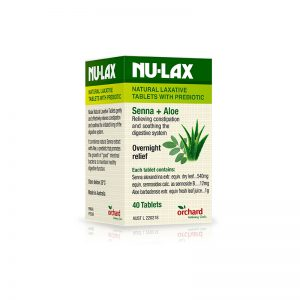 Nu-Lax Natural Laxative Tablets with Prebiotic – Senna & Aloe