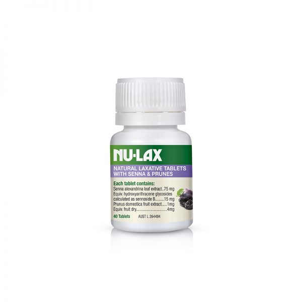 Nu-Lax Natural Laxative Tablets – Senna & Prune